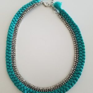 Chloe and Isabel Braided Crystal Collar Necklace